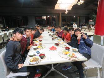 蔵王合宿 食事風景